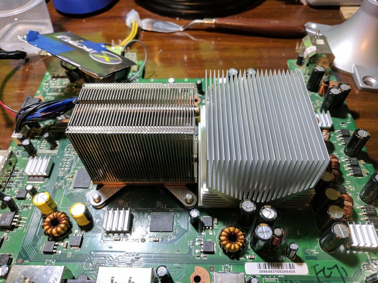 Xbox 360 heatsink upgrades