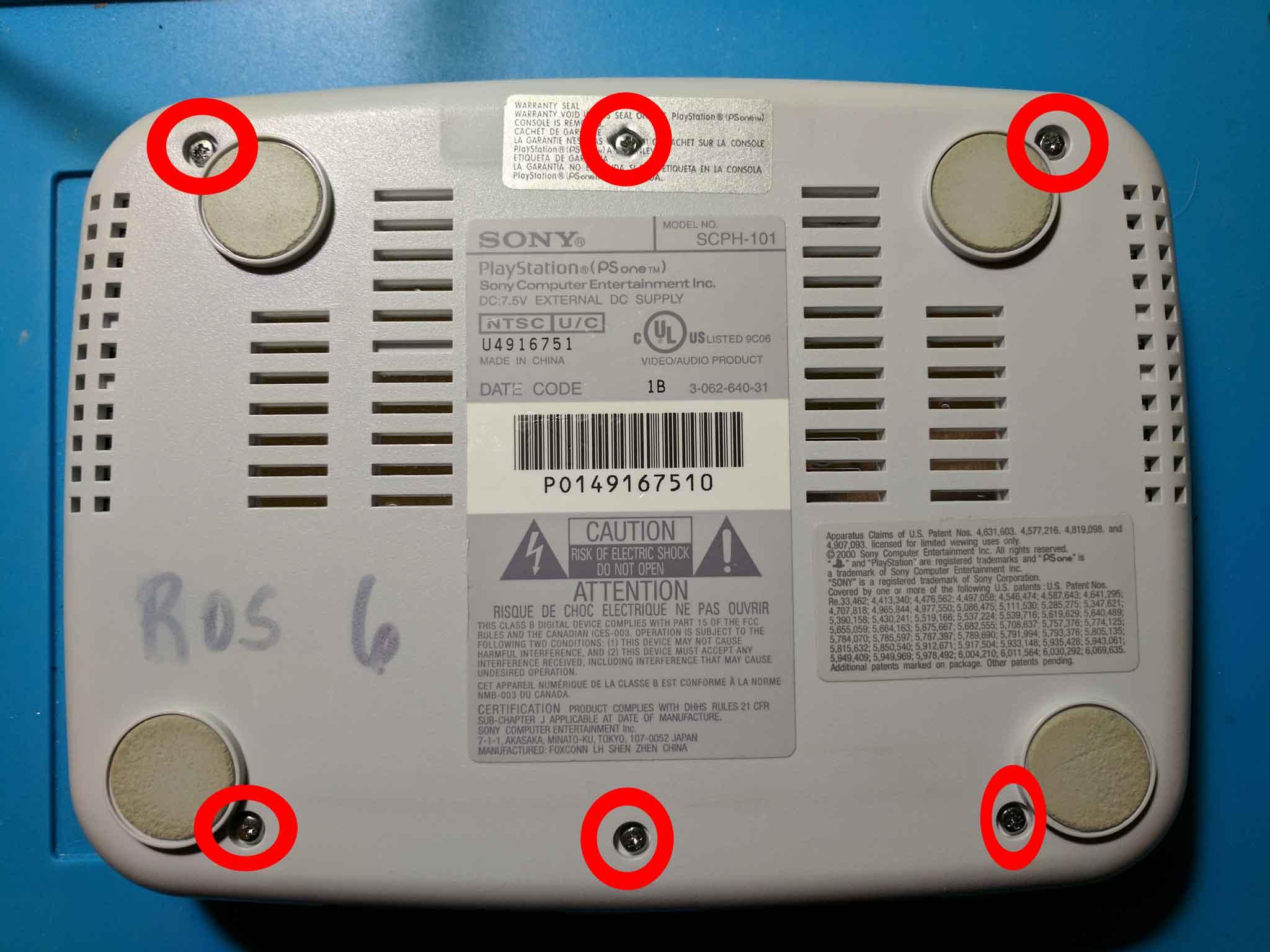 PSone bottom screws