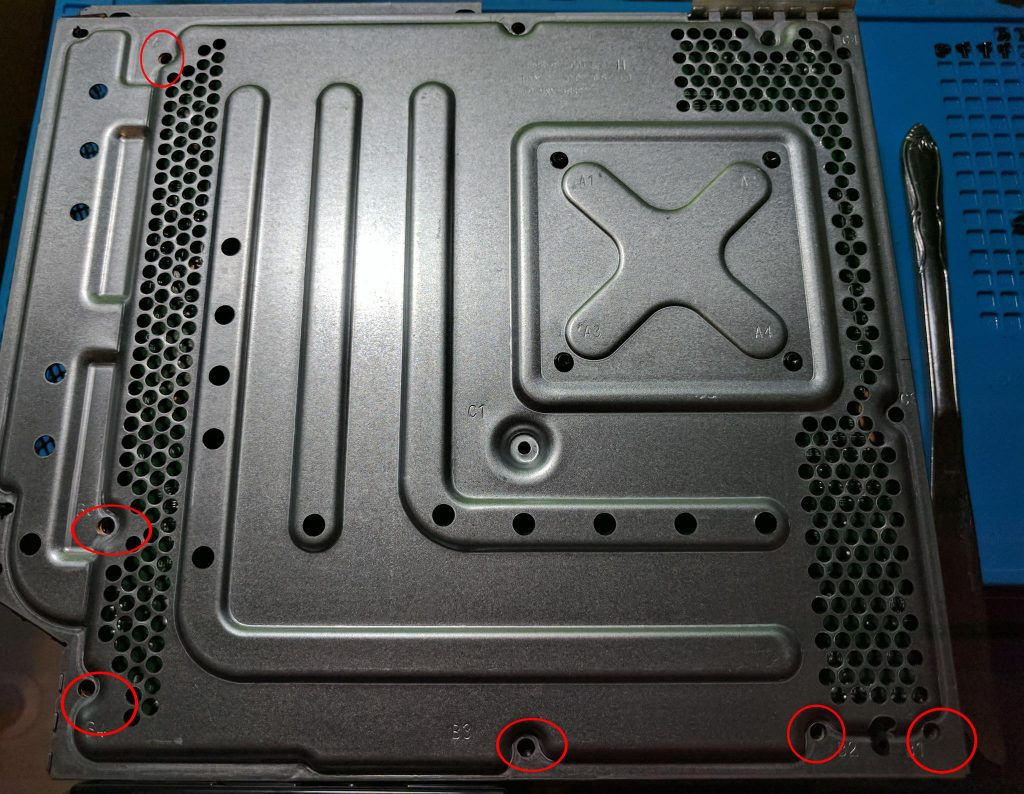 Hard drive tray removal