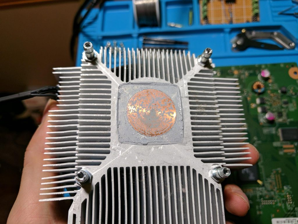 Xbox 360 E heatsink removal