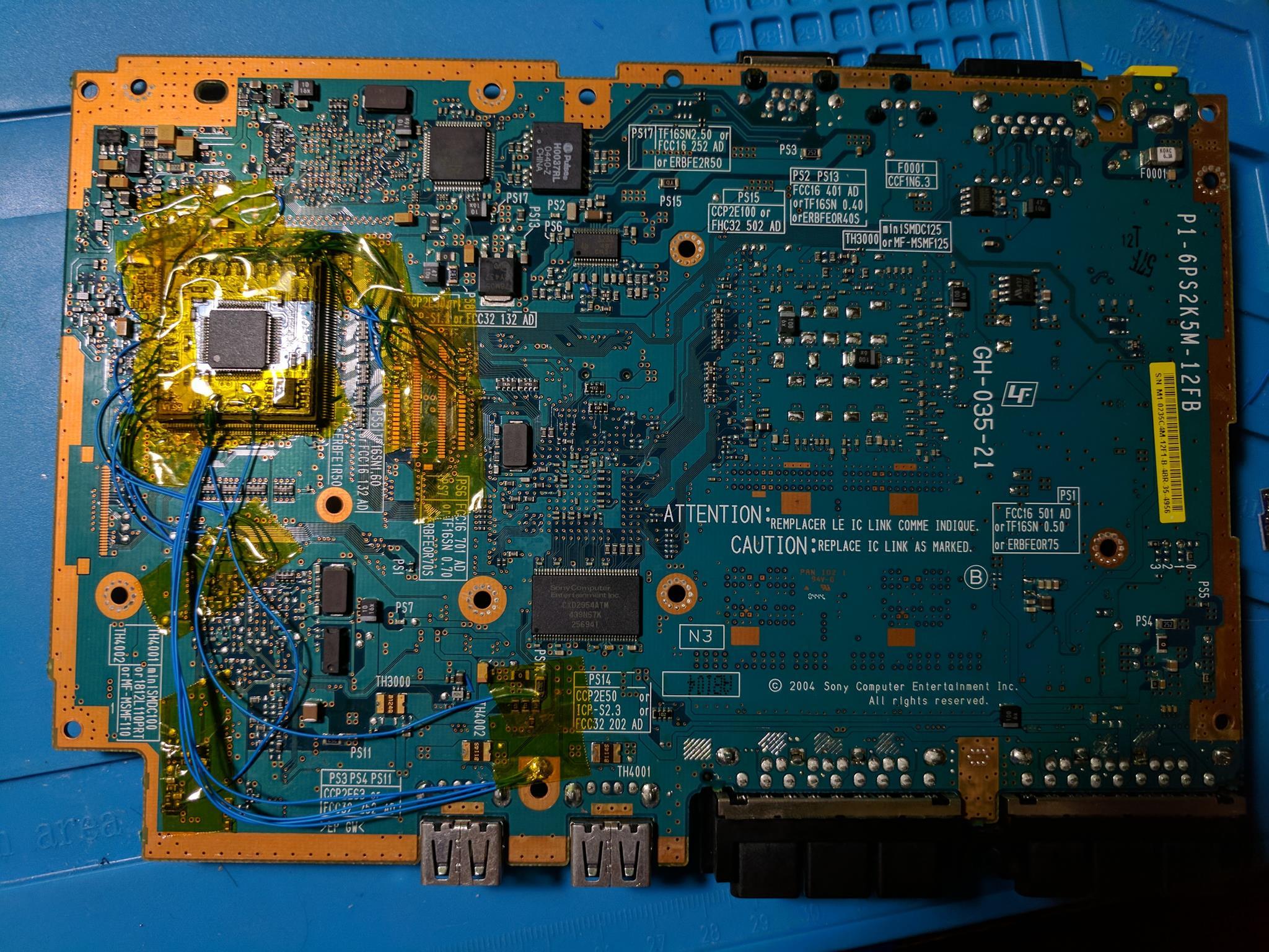 Scph 70012 Ps2 Modbo 40 Modchip Installation V12 Ntsc Board Playstation 2 Circuit Diagram
