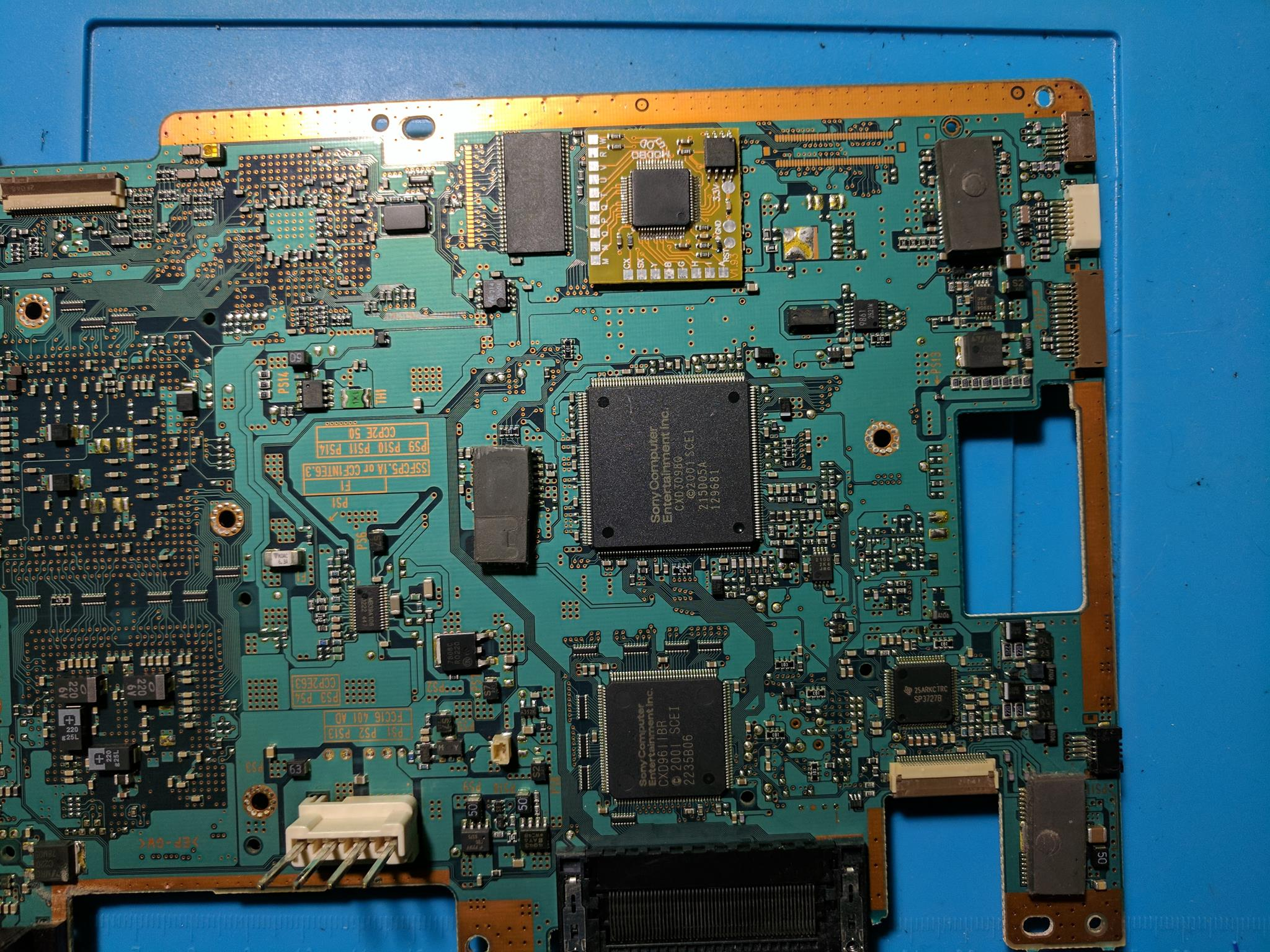 Scph 39001 Ps2 Modbo 50 Modchip Installation V7 Ntsc Board Playstation 2 Wiring Diagram Position