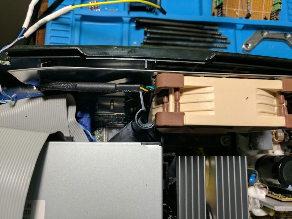 Modified disc drive tray