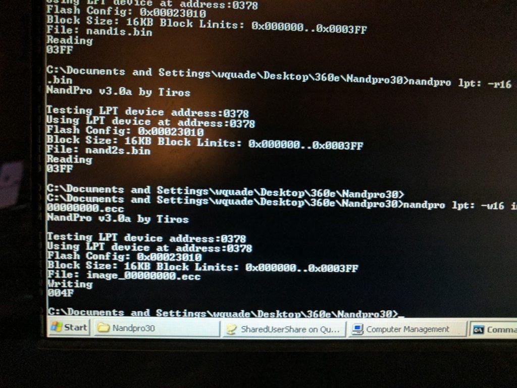 NANDPro ECC write