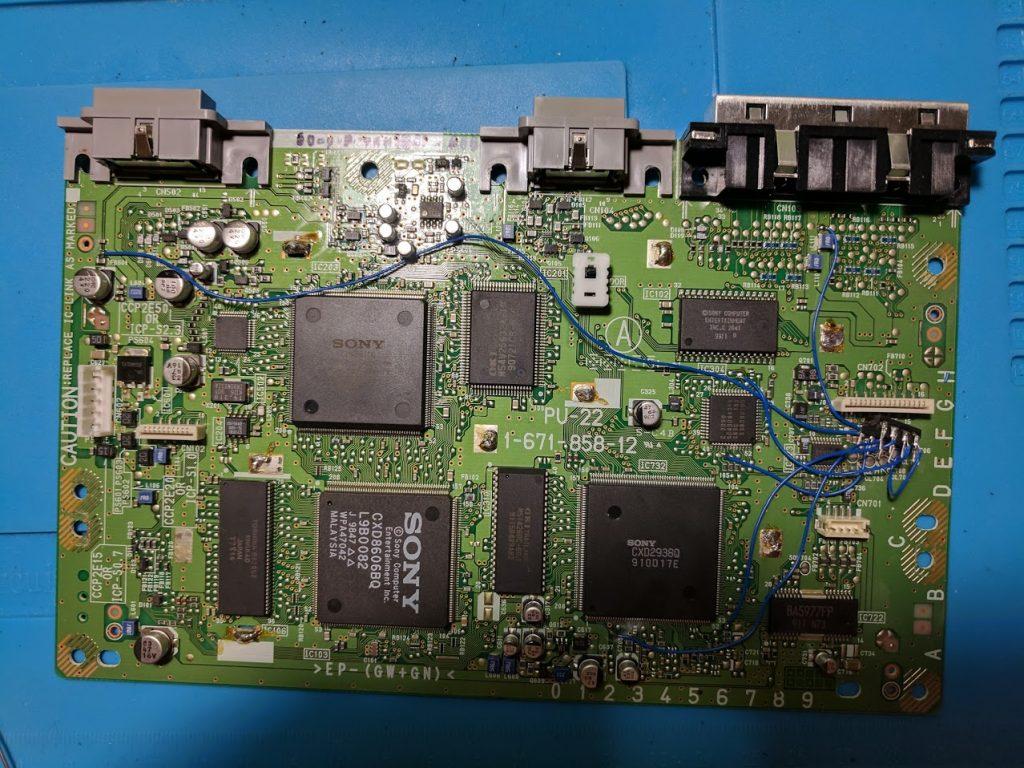 MM3 modchip installation pin 4