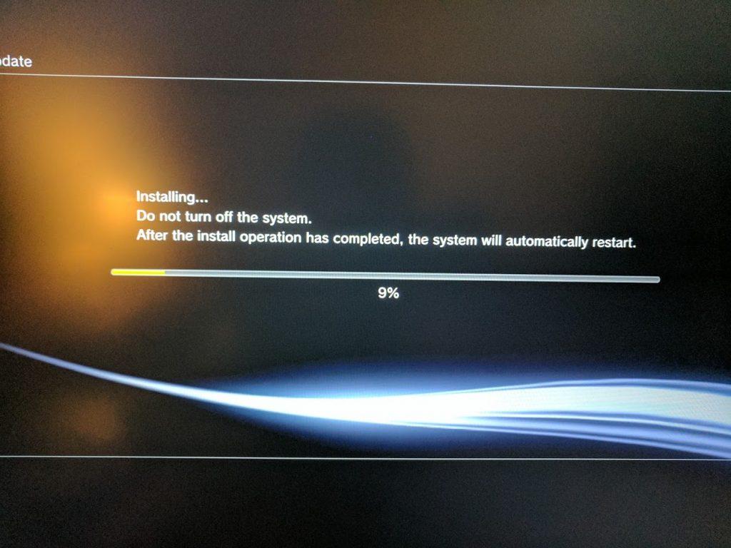PS3 custom firmware installation