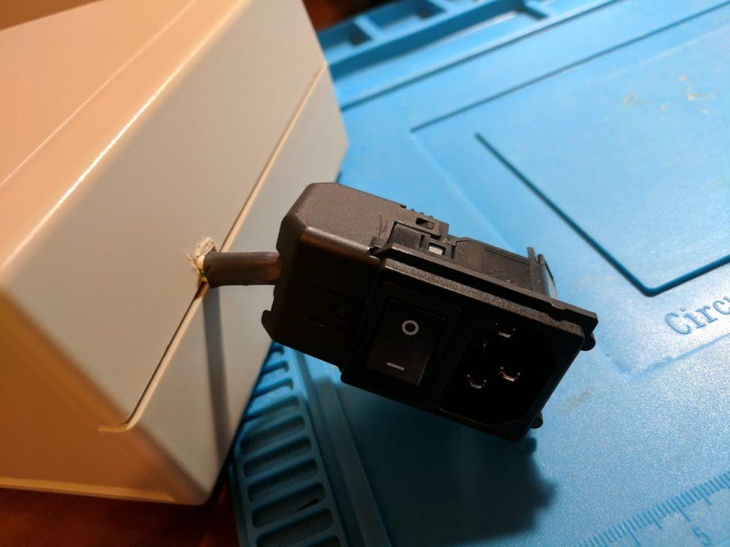 External power plug
