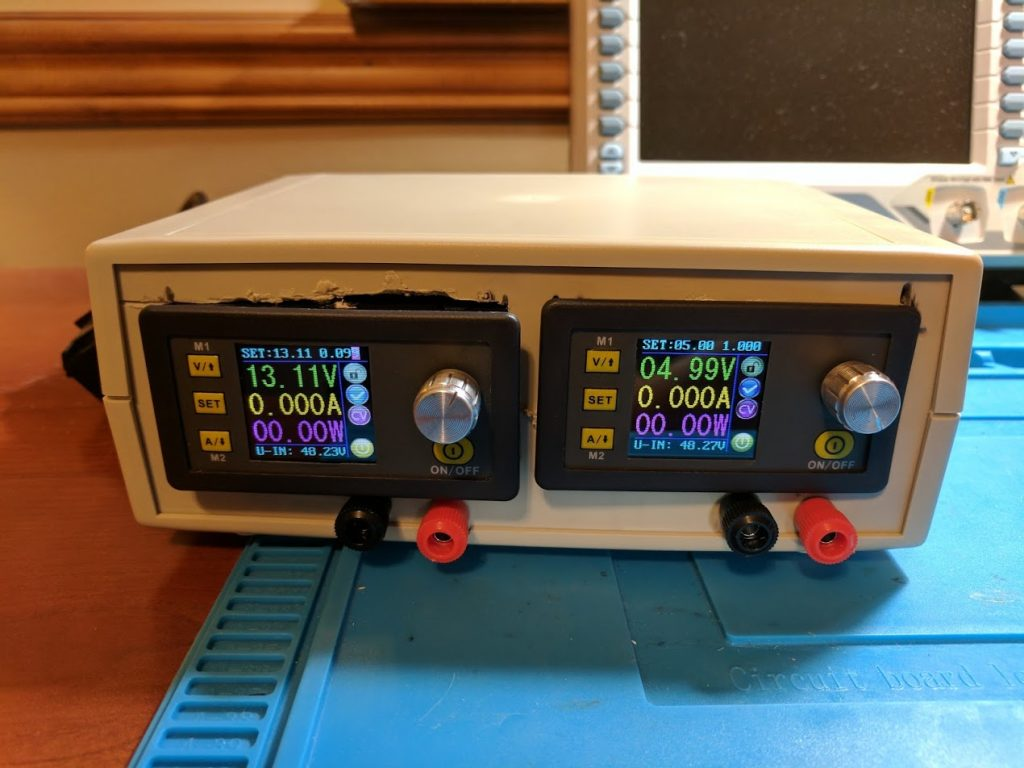 Bench power supply front