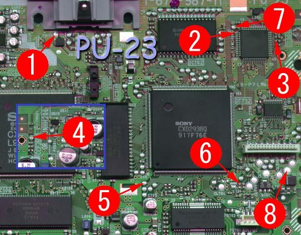 PU-23 Mayumi v4 modchip installation diagram