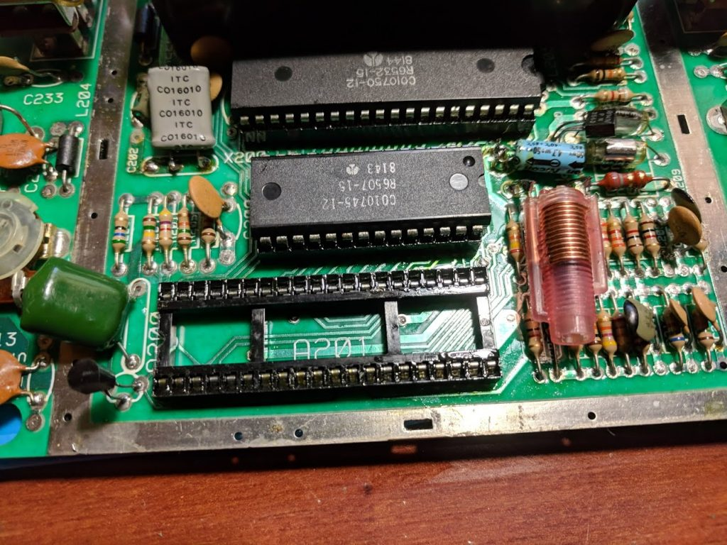 Atari 2600 PCB components