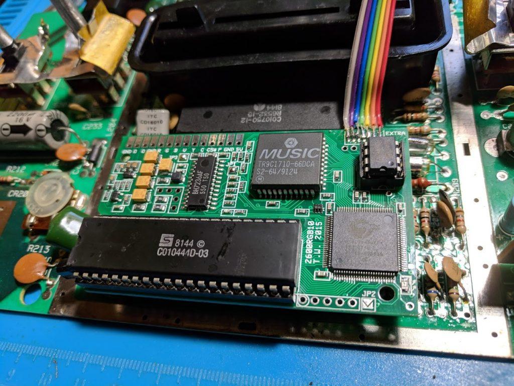 Installed 2600RGB PCB