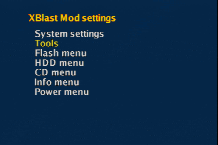 XBlast OS settings